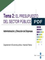 Tema 2 El Presupuesto Del SP