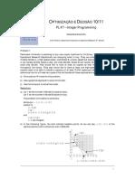 OD7 PL Integer Programming