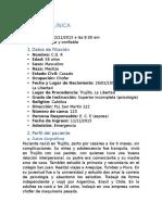 Historia Clínica - Dra. Sosa 3 - CA Páncreas