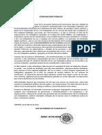 Comunicado Público 26febrero