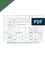 jadual pengajian semester ke-2 2010