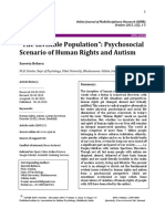 The Invisible Population Psychosocial Scenario of Human Rights and Autism (1)
