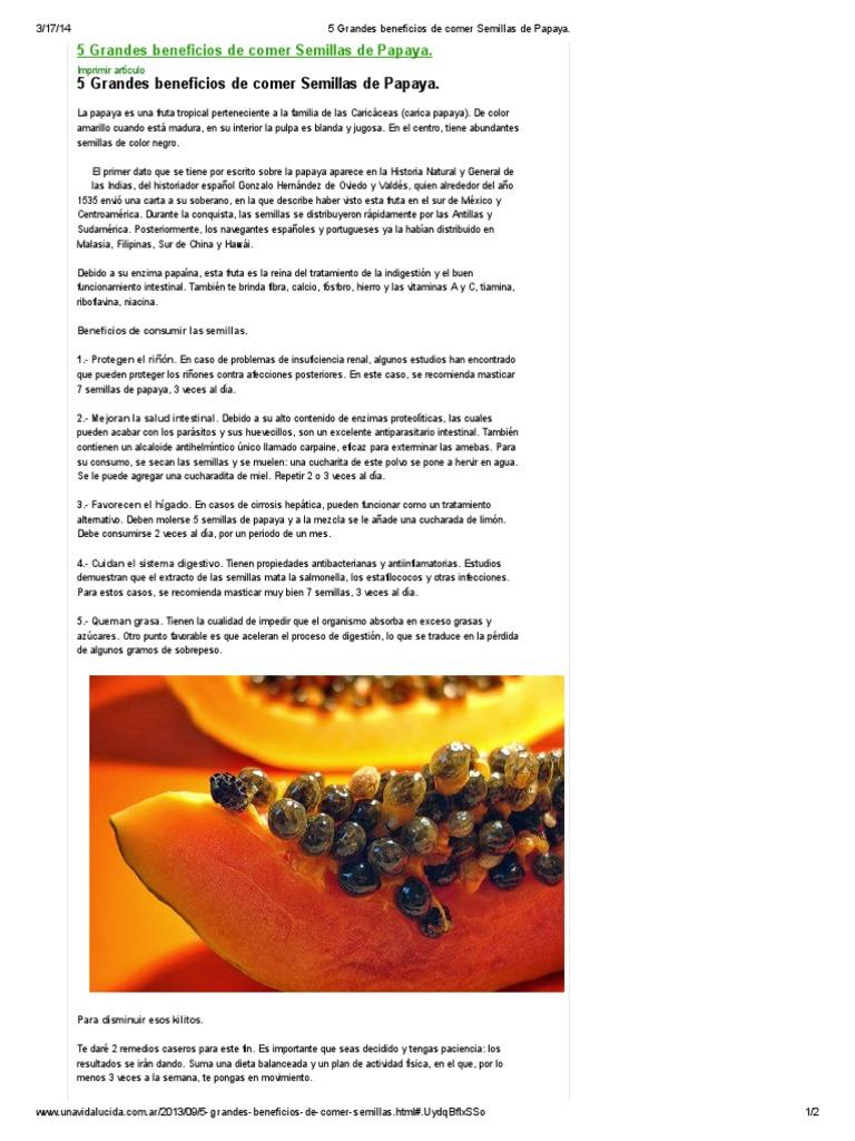 5 Grandes Beneficios De Comer Semillas De Papaya