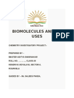 Biomolecules and Its Uses