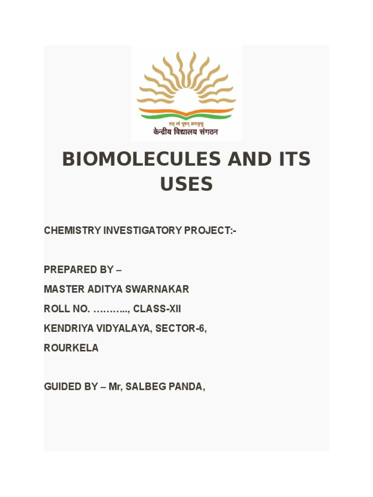 Biomolecules and Its Uses Biomolecular Structure – Biomolecule Worksheet