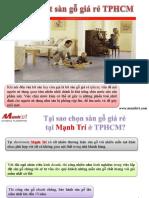 Lót sàn gỗ giá rẻ TPHCM