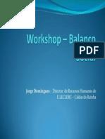 Workshop Balanco Social