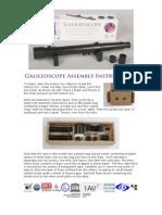 Galileoscope Instructions 20091201 Rtf