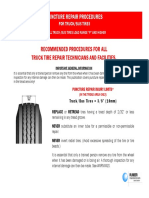 Puncture Repair Procedures for Truck-Bus Tires