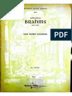 Brahms - 10 Studies Horn