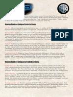AVP Factions Sheets