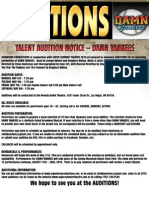 DY Audition Flyer Color