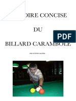 94 GALINHA Histoire Concise Du Billard Carambole