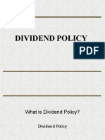 Dividend Policy Final
