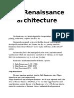 The Renaissance Arhitecture