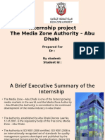 Internship Project the Media Zone Authority – Abu Dhabi
