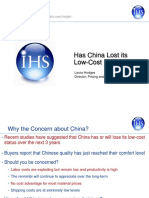 IHS Has China Lost Its Low Cost Edge