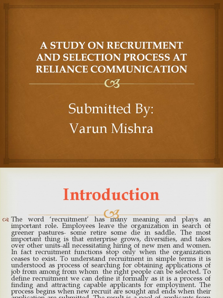 recruitment and selection process of green