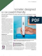Non-corneal Pen Like Tonometer Diaton Designed to be Patient Friendly