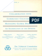 13 - Collaboration With Communist Countries in Managing Global Problems - An Examination of the Options (1977)