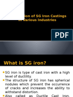 Application of SG Iron Castings in Various Industries