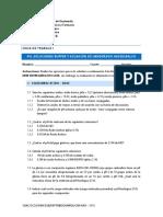 Hoja de Trabajo - PH, Soluciones Buffer y Ecuación de Henderson Hasselbalch