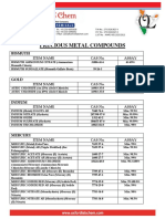 OXFORD LAB CHEM-PRECIOUS METAL COMPOUNDS