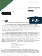FBI FOIA Letter