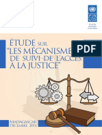"""Etude sur """"les mécanismes de suivi de l'accès à la justice"""""""