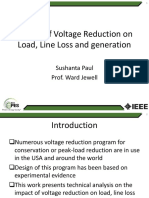 Impact of Voltage Reduction on Load, Line Loss and Generation