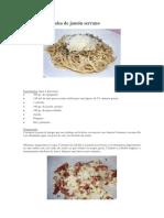 Spaghetti Con Salsa de Jamón Serrano