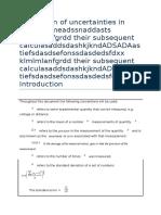 Estimation of Uncertainties