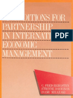 32 - Conditions for Partnership in International Economic Management (1986)