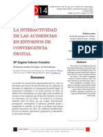 Icono14. Nº15. La interactividad de las audiencias en entornos de convergencia digital