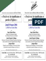 Tract Conférence Fin de Vie - 10-03-2016
