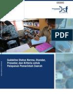 Guideline Status NSPK Untuk Pelayanan Pemerintah Daerah