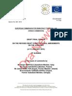 Drafti final i Komisionit të Venecias