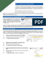 Office 2010 - Quick Access Toolbar QAT QRG