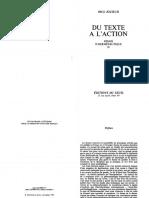 (Collection Esprit) Paul Riceur-Du Texte a l'Action -Editions Du Seuil (1986)