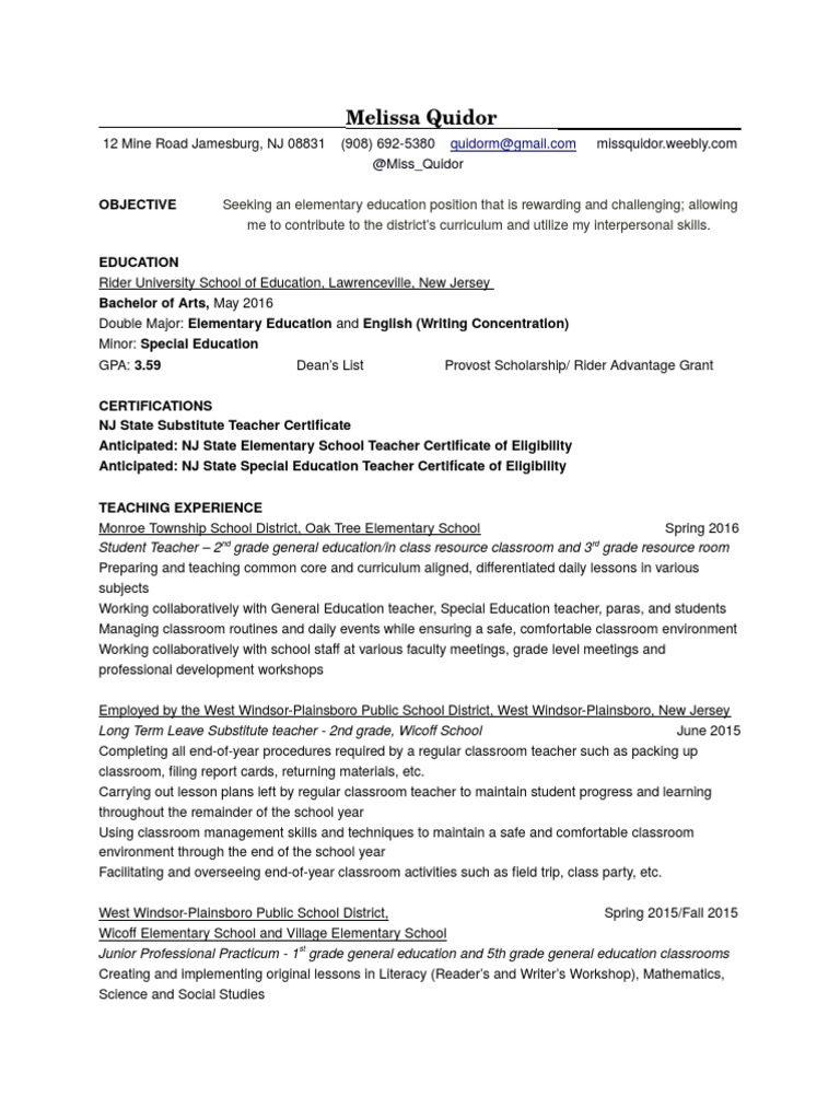 Resume special education teachers 1betcityfo Images