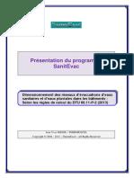 Thermexcel - Programme SanitEvac -Calcul Evacuation 2014