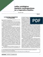 Desafios Axiologicos Para La Psiquiatria Contemporanea Pluralismo e Imperativo Bioetico
