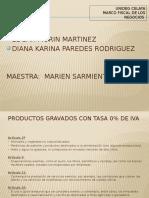 Productos Gravados Con Tasa 0% de Iva