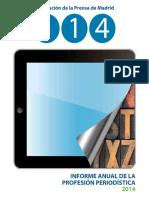 Informe Anual de la Profesión Periodística 2014