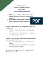 resume nursing student