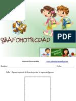 Cuadernillo Fichas de Grafomotricidad en Infantil