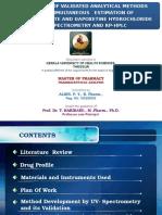 Analysis Sildenafil Citrate Dapoxetin HPLC UV