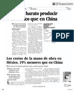 Productividad  México Vs. China
