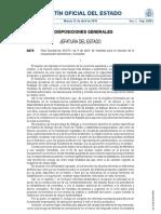 Real Decreto Ley 6/2.010, de 9 de abril, de medidas para el impulso de la recuperación económica y del empleo.