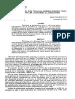 Construcción Social de La Psicología. Imperativo Técnico y Elección Metodológica en Los Orígenes Del Conductismo